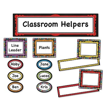 Carson-Dellosa Colorful Chalkboard Classroom Management Bulletin Board Set (110302)
