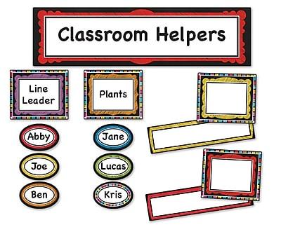 Carson-Dellosa Colorful Chalkboard Classroom Management Bulletin Board Set, 47 Pieces/Set