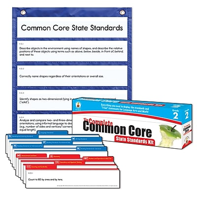 Carson-Dellosa Complete Common Core State Standards Pocket Chart, Grade 2