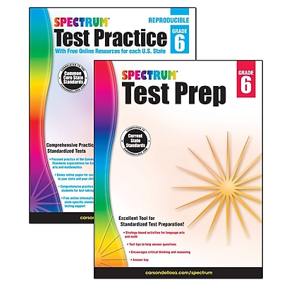 Spectrum Test Prep and Practice Classroom Kit for Grade 6