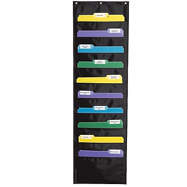 Carson-Dellosa Storage Black Pocket Chart