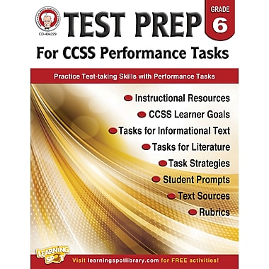 Carson-Dellosa Mark Twain Test Prep for CCSS Performance Tasks Resource Book for Grade 6 (404229)
