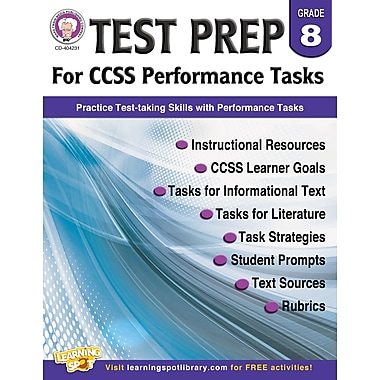 Carson-Dellosa Mark Twain Test Prep for CCSS Performance Tasks Resource Book for Grade 8 (404231)