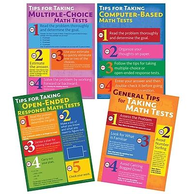 Mark Twain Media Math Testing Tips Bulletin Board Set, 4 Boards/Set