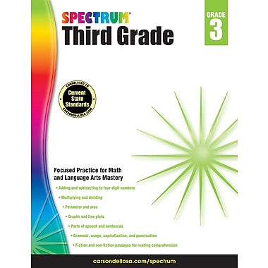 Carson-Dellosa Spectrum Grade 3 Workbook (704653)