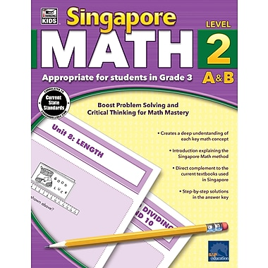 Carson-Dellosa Thinking Kids Singapore Math Workbook for Grade 3 (704680)