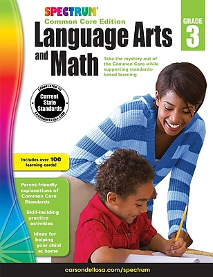 Spectrum Language Arts and Math Workbook for Grade 3