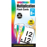 Spectrum Flash Cards, Multiplication, 100/Pack
