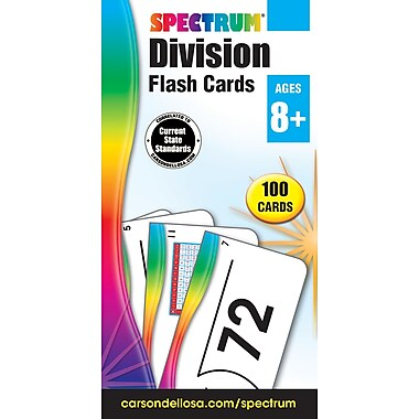 Carson-Dellosa Spectrum Flash Cards, Division, 100/Pack (734057)
