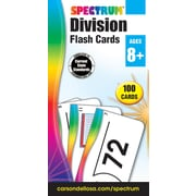 Spectrum Flash Cards, Division, 100/Pack