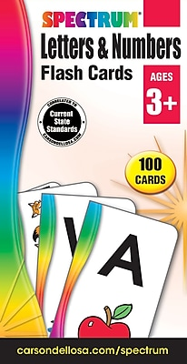 Spectrum Flash Cards, Letters and Numbers, 100/Pack