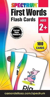 Spectrum Flash Cards, First Words, 100/Pack