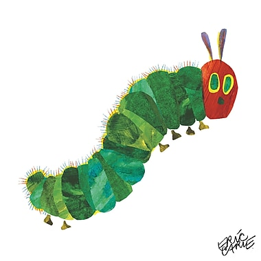 Marmont Hill 'Wiggly Caterpillar' by Eric Carle Painting Print on Wrapped Canvas; 32'' H x 32'' W