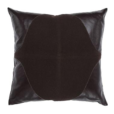 Cloud9 Design Leather Throw Pillow