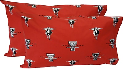 College Covers Collegiate NCAA Texas Tech Red Raiders Pillowcase (Set of 2); King