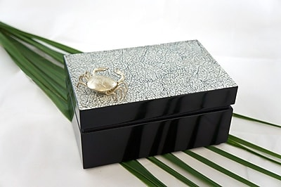 Bodhi Tree Collections Rectangular Box w/ Crab