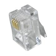 Digiwave – Prise RJ11 4P4C, 0,1 x 0 x 0 (po), incolore, paq./100