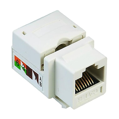 Digiwave – Connecteur Keystone CAT6, 0,5 x 0,5 x 2 po, blanc, paq./50