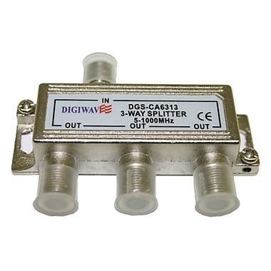 Digiwave DGSCA6313 3-Way Splitter (5-1000Mhz), 0.8
