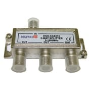 "Digiwave DGSCA6313 3-Way Splitter (5-1000Mhz), 0.8"" x 1.5"" x 3.3"", Silver"