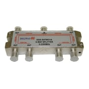 "Digiwave 6 Way Splitter (5-2400Mhz), 0.8"" x 2.5"" x 4.7"", Silver"