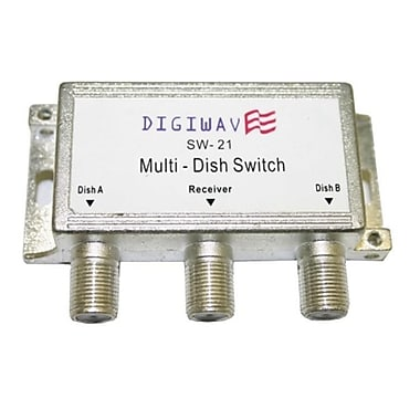 Digiwave DGSSW21 Multiswitch for Satellite Dish (2 in 1 out), 0.8