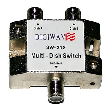Digiwave DGSSW21X Multiswitch for Satellite Dish (2 in 1 out), 0.8