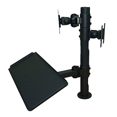 TygerClaw Dual Display Point of Sale Desk Mount with Keyboard Tray, 20.9
