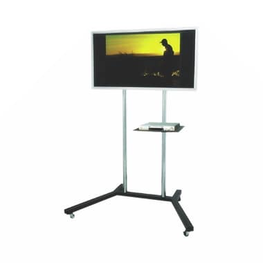 TygerClaw Mobile TV Stand with Media Shelf for 22