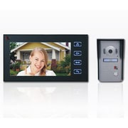 "SeqCam 7"" Touch Pad Video Doorphone, 3"" x 7"" x 6"", Black"