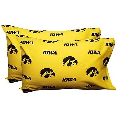 College Covers NCAA Iowa Hawkeyes Pillowcase (Set of 2); King