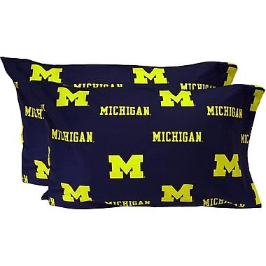 College Covers Collegiate NCAA Michigan Wolverines Pillowcase (Set of 2); Standard