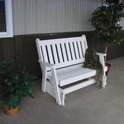 A&L Furniture Traditional English Gliding Bench; Bright White