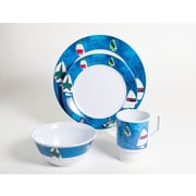 Galleyware  Company Decorated Spinnaker Melamine 24 Piece Dinnerware Set, Service for 6