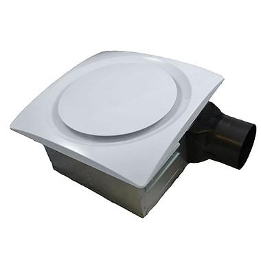 Aero Pure Slim Fit 120 CFM Energy Star Bathroom Ventilation Fan; White