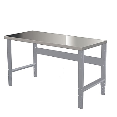 Hallowell Steel Workbench Top; 2'' H x 72'' W x 30'' D