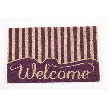 Entryways Sweet Home Striped Welcome Doormat