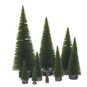Vickerman Village Flocked 2' Moss Green Pine Tree Artificial Christmas Tree