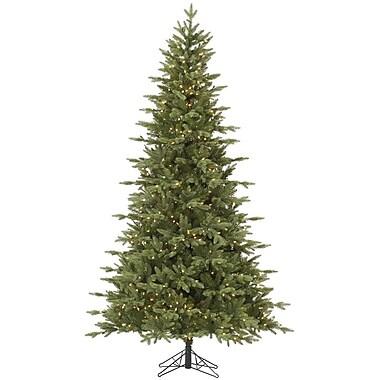 Vickerman Fresh Balsam 7.5' Green Fir Artificial Christmas Tree w/ 750 Clear Lights