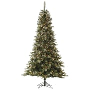 Vickerman Iced Sonoma Pencil 6' Green Spruce Artificial Christmas Tree w/ 350 Dura-Lit Clear Lights