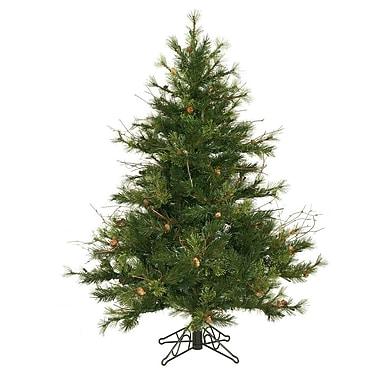 Vickerman Flocked Kodiak 4.5' Green Pine Artificial Christmas Tree w/ Unlit w/ Stand