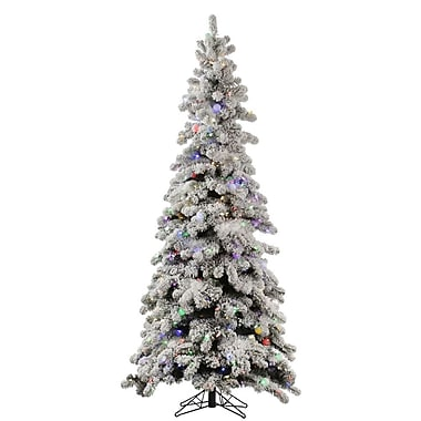 Vickerman Flocked Kodiak 8' White Spruce Artificial Christmas Tree w/ 715 LED White Lights