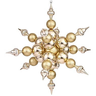 Vickerman Radical Snowflake Ornament; Gold