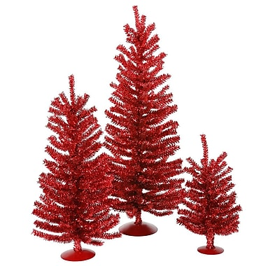 Vickerman Mini D cor Red Mini Tree Set