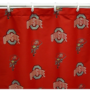 College Covers NCAA Ohio State Cotton Printed Shower Curtain