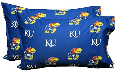 College Covers NCAA Kansas Jayhawks Pillowcase (Set of 2); Standard