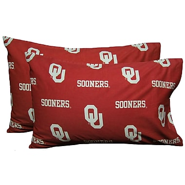College Covers NCAA Oklahoma Sooners Pillowcase (Set of 2); King