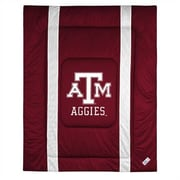 Sports Coverage NCAA Texas A&M University Sidelines Comforter; Twin