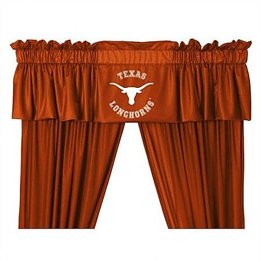 Sports Coverage NCAA 88'' Texas Longhorns Curtain Valance