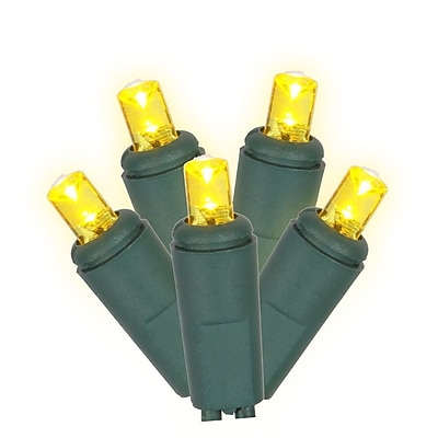 Vickerman Wide Angle Twinkle 50 Icicle LED Light Set; Yellow